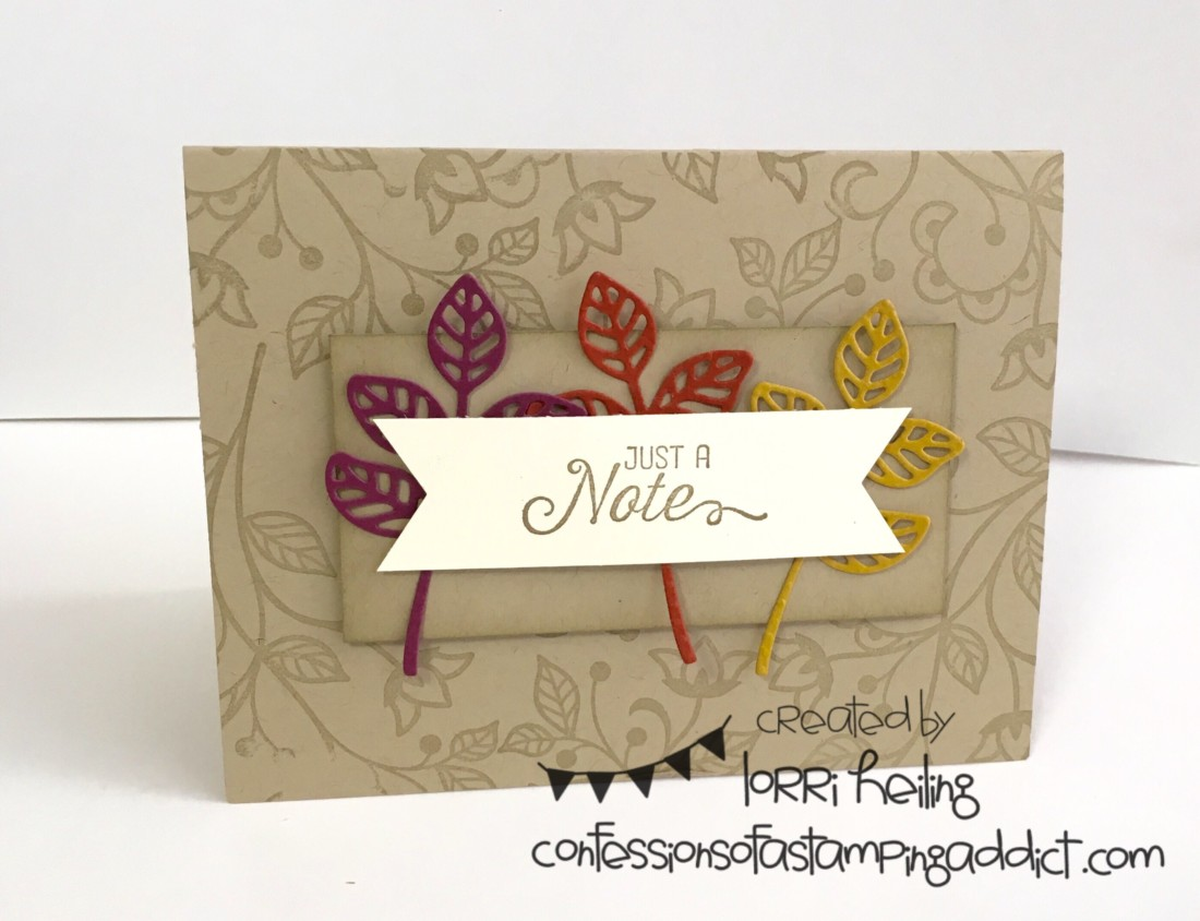 Fall Flourishing Phrases Card Confessions Of A Stamping Addict
