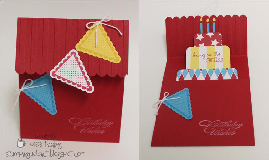 Birthday Cake Pop Up Card VIDEO TUTORIAL Confessions of a – Birthday Cake Pop Up Card