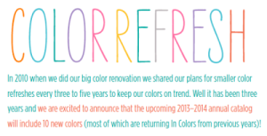 Color Refresh Text