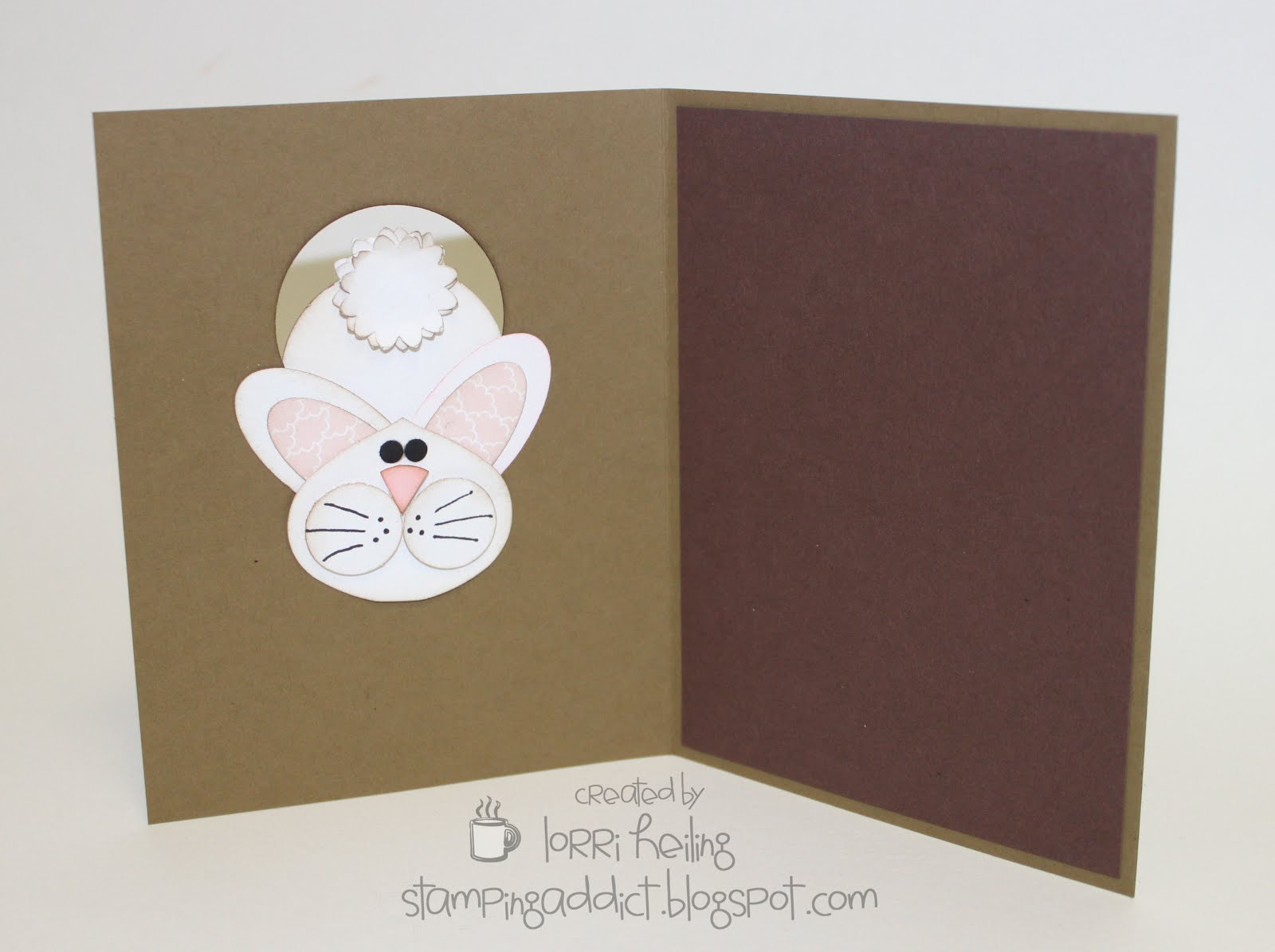 Easter Bunny Card :: Confessions of a Stamping Addict