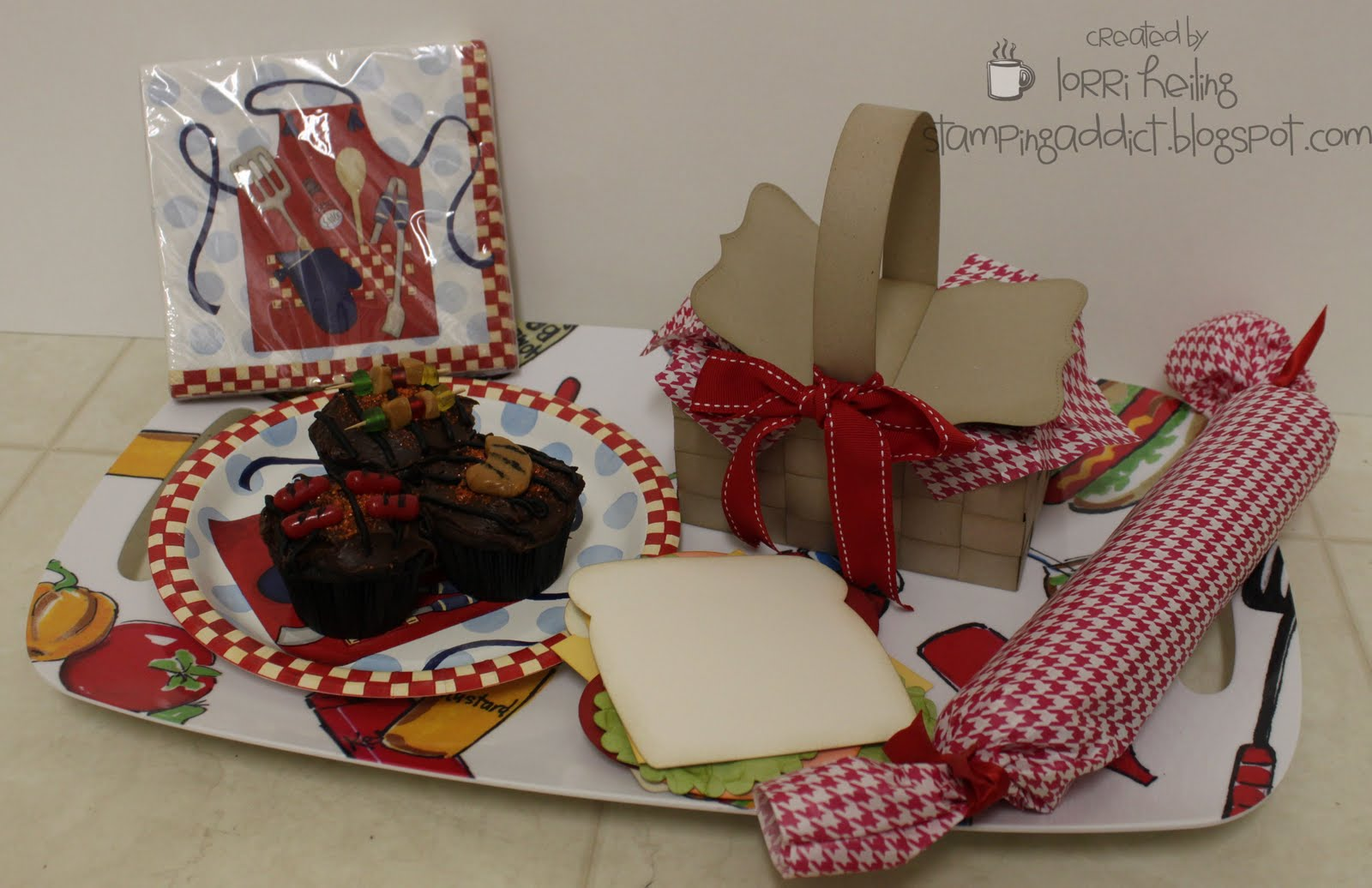 Picnic themed gift set confessions of a stamping addict