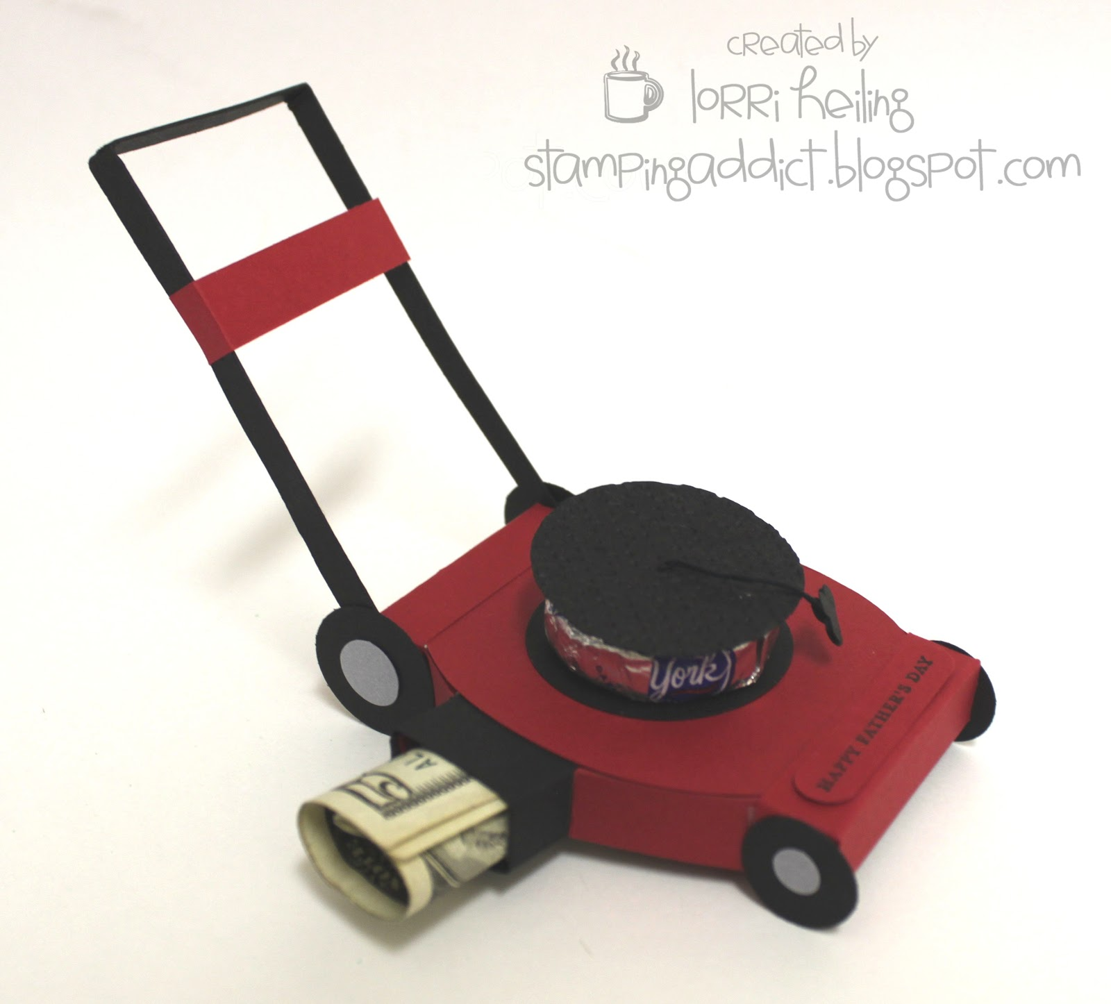 Push Lawn Mower Money Holder Confessions of a Stamping Addict