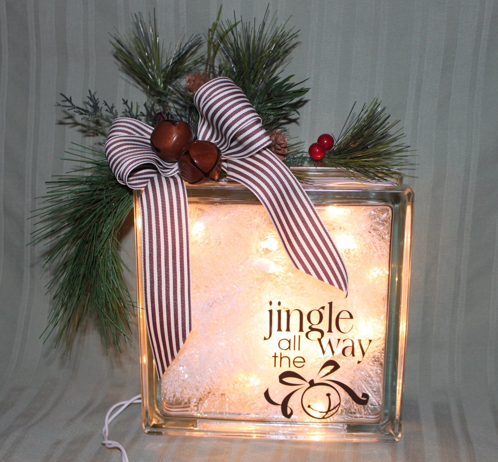 glass block decorative lamp gift decor westamp christmas gift confessions of a stamping addict - Christmas Glass Blocks